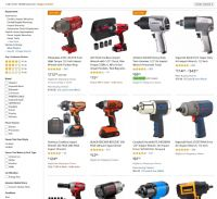 Which Brand Provides the Most Powerful Impact Wrench? (comparison table for 2019 models of leading brands)