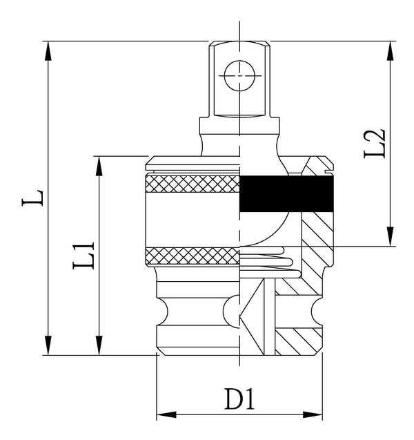 Impact Adapter - Socket Accessory,IMPACT UNIVERSAL JOINT