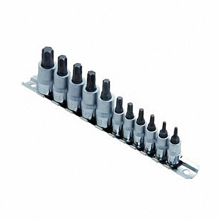 "11PC 1/4"" & 3/8""DR. STAR BIT SOCKET SET-1"