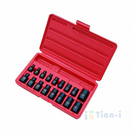 "17PC 3/8"" & 1/2""DR. STAR IMPACT SOCKET SET -1"