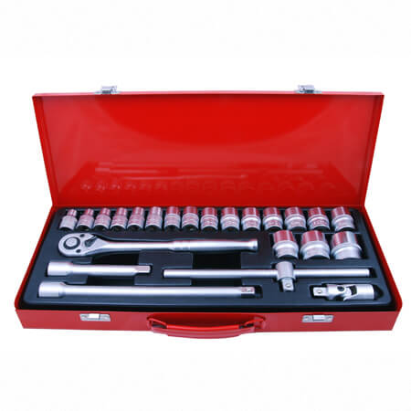 "24PC 1/2""DR. SOCKET SET (METRIC)"