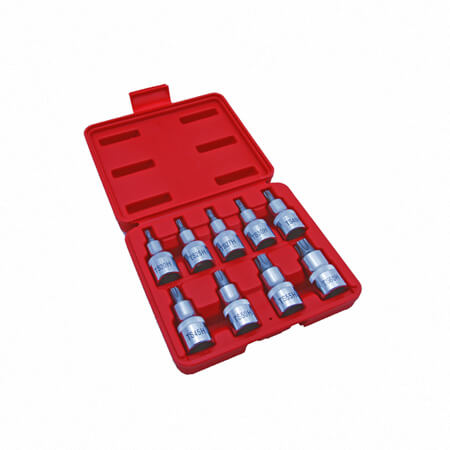 "9PC 1/2"" DR. 5 POINT STAR BIT SOCKET SOCKET-1"