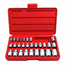 "28PC 1/4"" & 3/8"" &1/2""DR. STAR SOCKET SET"