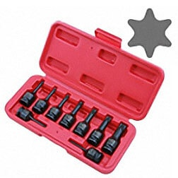 "3/8""DR. STAR BIT IMPACT SOCKET SET"