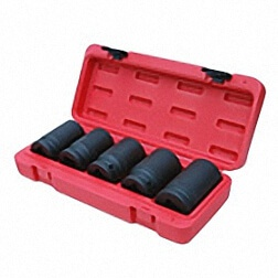 5PC DEEP BUDD WHEEL IMPACT SOCKET SET