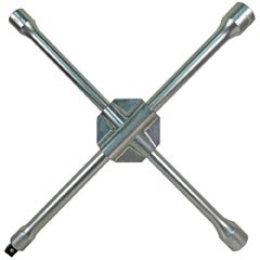 Heavy-Duty Truck Lug Wrench - Cross Spanner