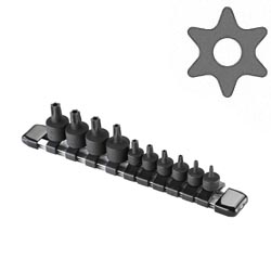 TAMPERPROOF STAR STUBBY BIT SOCKET SET